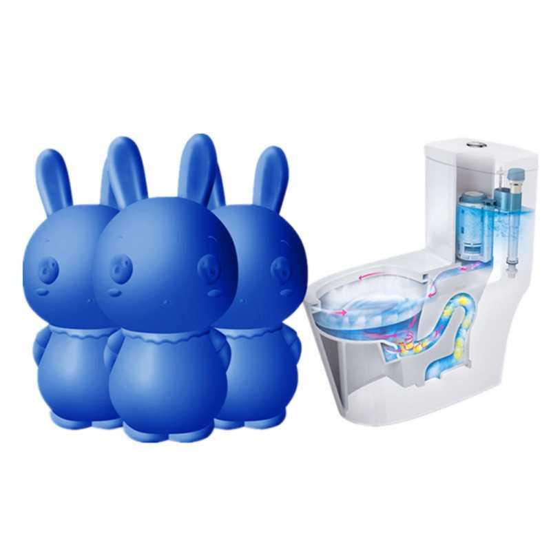Кролик Форма уборщик туалета помощник синий пузырь очистки дезодорирует ванная
