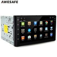 2 din Araba DVD Oynatıcı GPS Navigasyon 7 inç Çift din evrensel Araç Radyo Dash Bluetooth Stereo Video Desteği OBD Ücretsiz harita