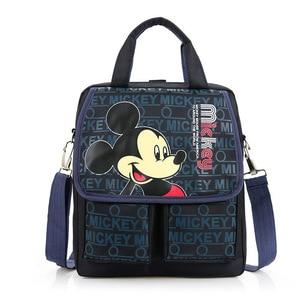 Image 1 - Disney cartoon handbag primary bag school girl boy Mickey mouse Minnie childrendouble pocket portable tutorial bags shoulde