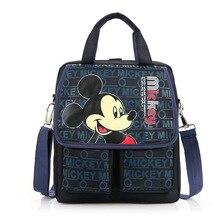 디즈니 만화 핸드백 초등 가방 학교 소녀 소년 미키 마우스 미니 childrendouble 포켓 휴대용 튜토리얼 가방 shoulde