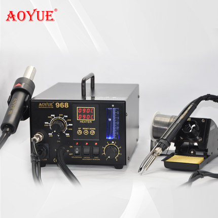 Free Shipping AOYUE Solder Station 110V 220V AOYUE968 AOUYE Repairing System SMD Soldering Iron