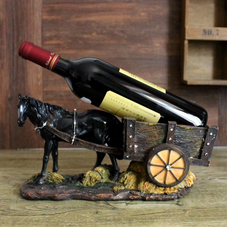 Online get cheap cheval vin titulaire for Porte bouteille decoratif