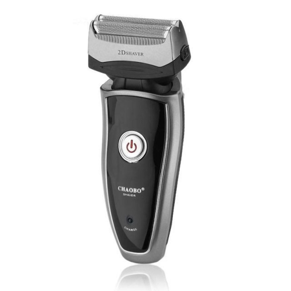 US Plug Rechargeable Cordless Electric Razor Portable Man Beard Shaver Groomer Double Side Trimmer Face Care Tool Dropshipping in Electric Shavers from Home Appliances