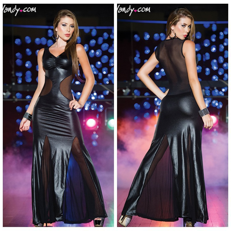Black Leather Evening Dress