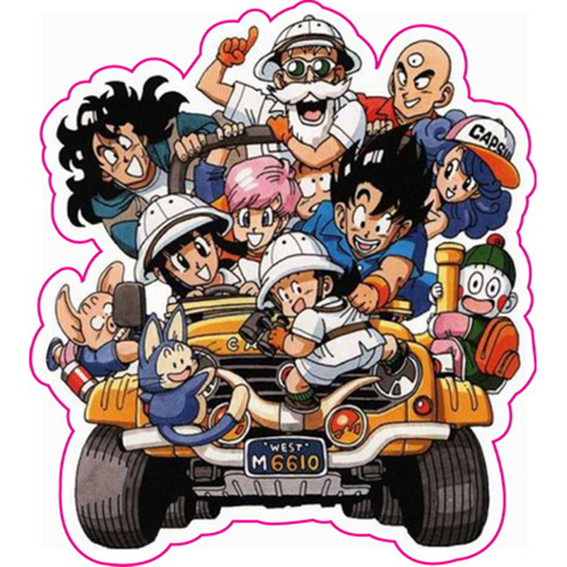 Dragon ball z son goku stickers fixed gear bike luggage guitar wall stickers christmas funny sticker in action toy figures from toys hobbies on