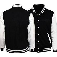 купить!  НИКОГДА НЕ ДАВАЙТЕ Письмо печать мужчины Бейсбол Одежда Куртка мужские Куртки Пальто Для Мужчин Тол�