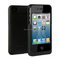1900 MAh Portable Black Ultra Slim External Backup Charger Battery Protective Case For Apple IPhone 4