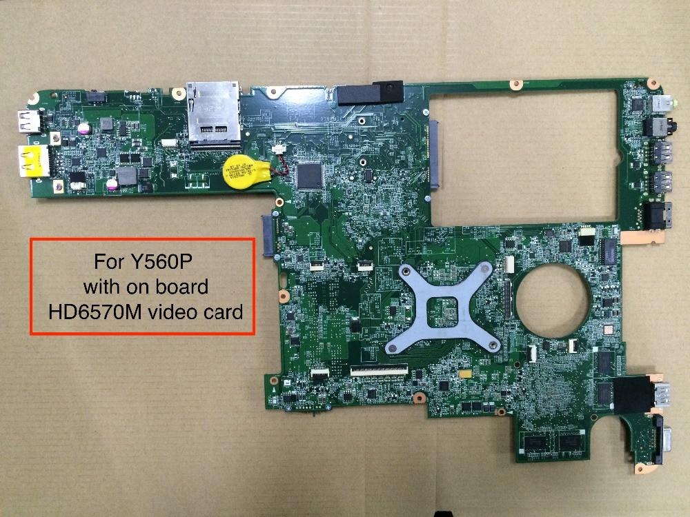 леново y560p - Original For Lenovo Y560P Laptop Motherboard DAKL3EMB8E0 Rev E with AMD HD6570M video card