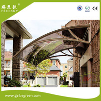 YP 80120 80x120cm 31 5x47in Depth 80cm Width 120cm Clear White Blacksunshade Awning Canopy Polycarbonate