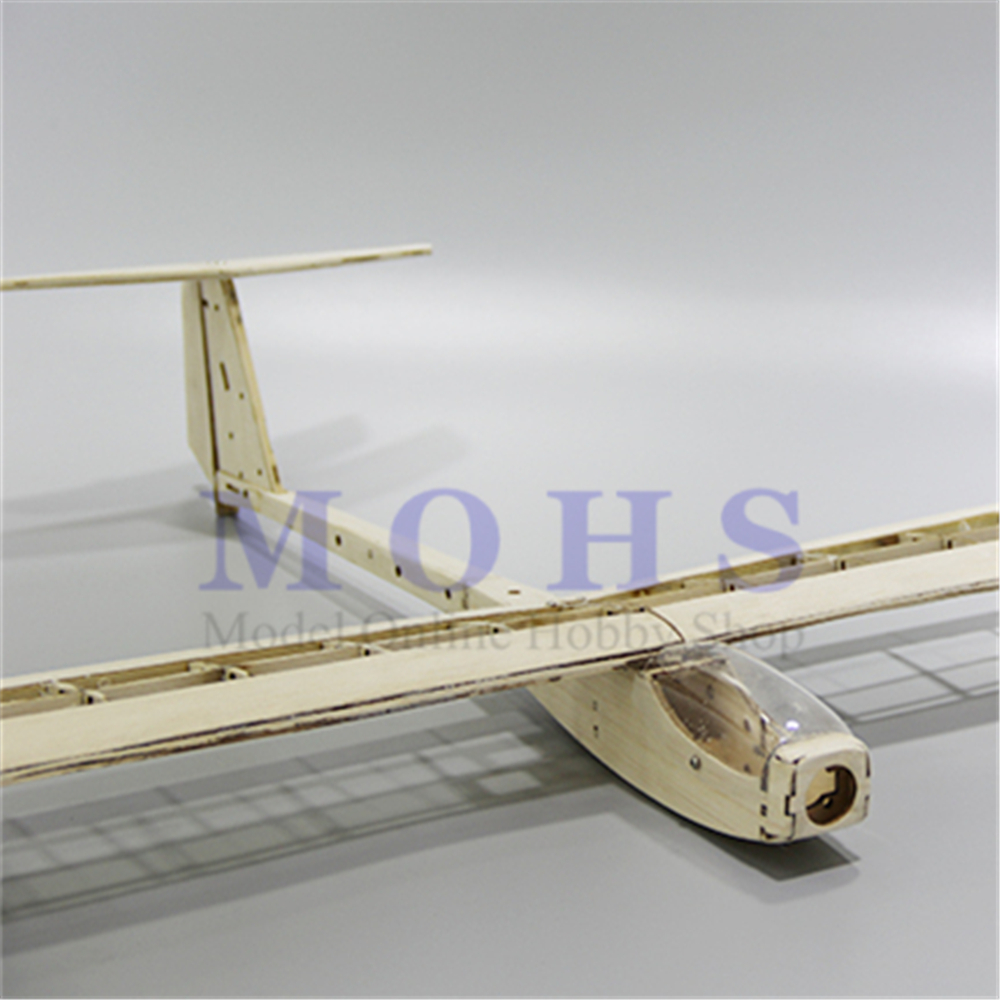 Image 3 - RC aircraft glider guppy wood airplane kits canopy hinges COMBO RC scale airplane glider guppy balsa fixed wing  kits COMBOParts & Accessories   -