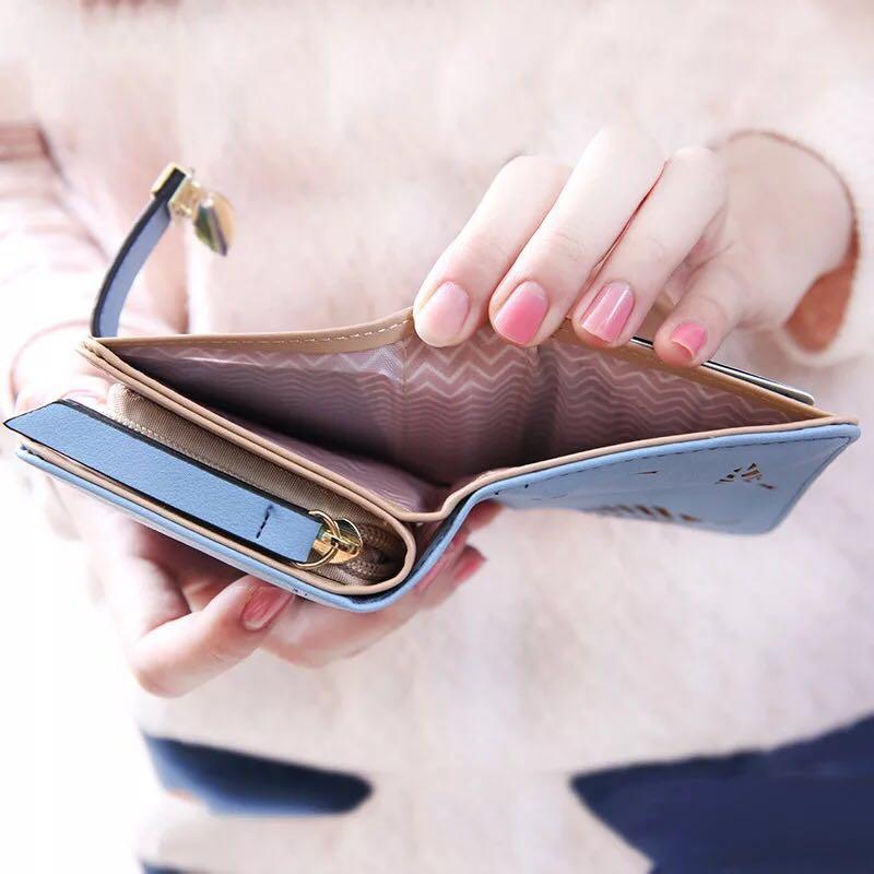 2018 doodoo mode pu läder kvinnors plånbok handväska kvinnliga - Plånböcker - Foto 3