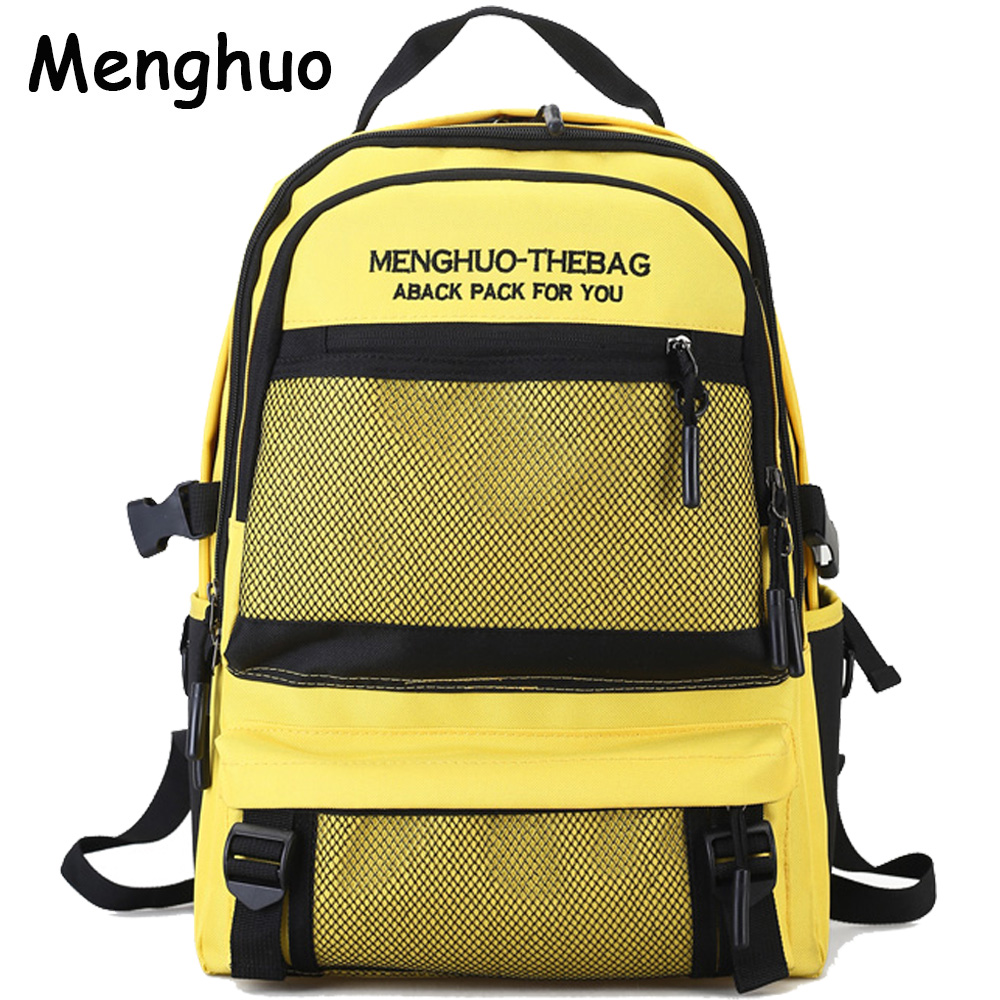 2018 New Menghuo Quality Waterproof Nylon Backpack Female Unisex Men's Backpacks for Laptop Women Notebook Bag Backpack Mochilas brand 50l waterproof nylon backpack military unisex men s backpacks for laptop women notebook bag backpack 14 to17 inch
