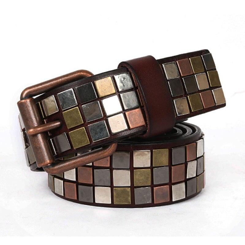 Flat Nail Inlay Pin Buckle Waist Belts For Women Luxury Brand Women's Belt Fashion Genuine Leather Female Belt For Dress 2020