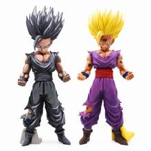 2 Style Anime Dragon Ball Z Super Saiyan Son Gohan Action Figures Cartoon Dragonball Figurine Collection Model Toy For Kids Gift 24cm dragon ball z super saiyan son gohan master stars piece new msp cartoon action figures dragonball collectible model toy
