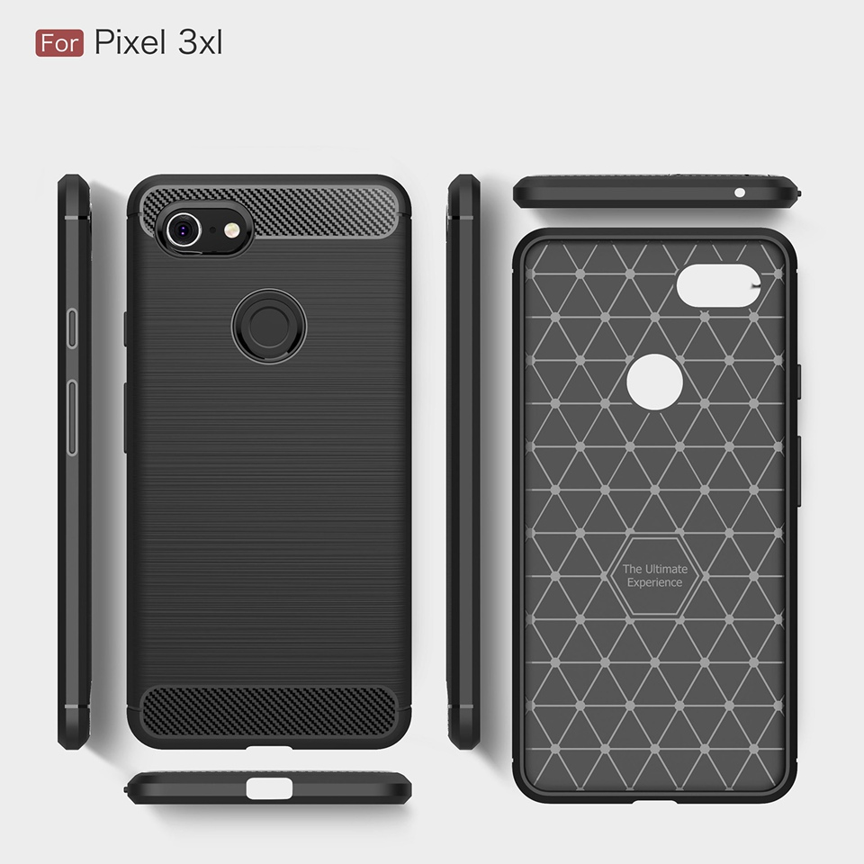 Armor Case For Google Pixel 3 XL Case Soft Silicone TPU Carbon Fiber Pixel3 Coque Phone Cover For Google Pixel 2 XL 3XL 2XL Case