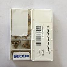 TNMG160404-M3 1500t original seco inserções de carboneto torneamento ferramentas torno 10 pçs/lote