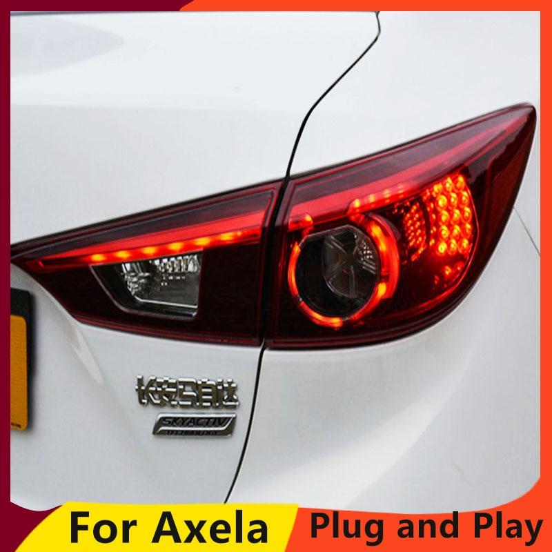 KOWELL Car Styling for Mazda 3 Tail Lights 2015 Mazda3 Axela LED Tail Light Orignal Design LED Rear Lamp DRL+Brake+Park+Sign