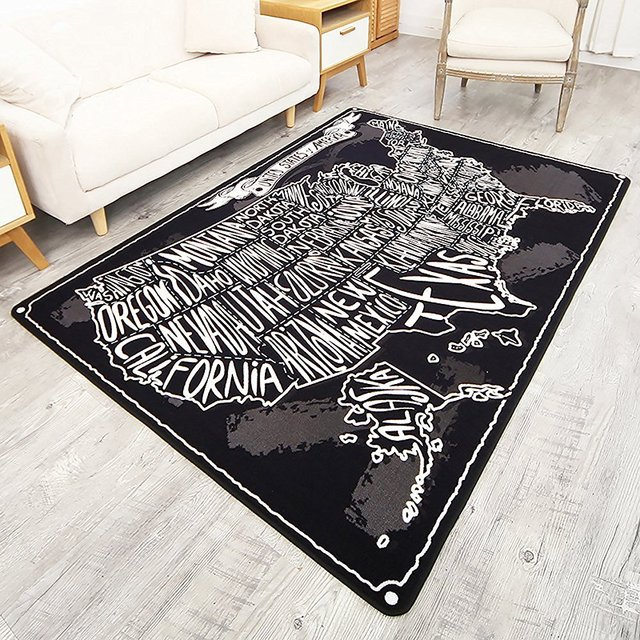 Creative Graffiti Design Bedroom Rug Alphabet Map Living Room Carpet