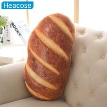 Regalo creativo 3D de simulación de pan pan comida de peluche de felpa muñecas almohadas decorativas sofá cojines almofada Coussin home decor