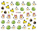 Angry the Birds Water Transfer Nail Decals Nail Art Sticker Angry the Bird Manicure Nail Tattoo Planche De Stickers