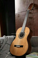 Finlay 39 Inch Handmade Spanish Guitar With SOLID Cedar Top Rosewood With Pickup Tuner Electic Classical