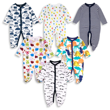 6pcs/lot Newborn  Baby Rompers baby boy Clothing Long Sleeve 100% cotton Cartoon Infant Jumpsuit kid Clothes