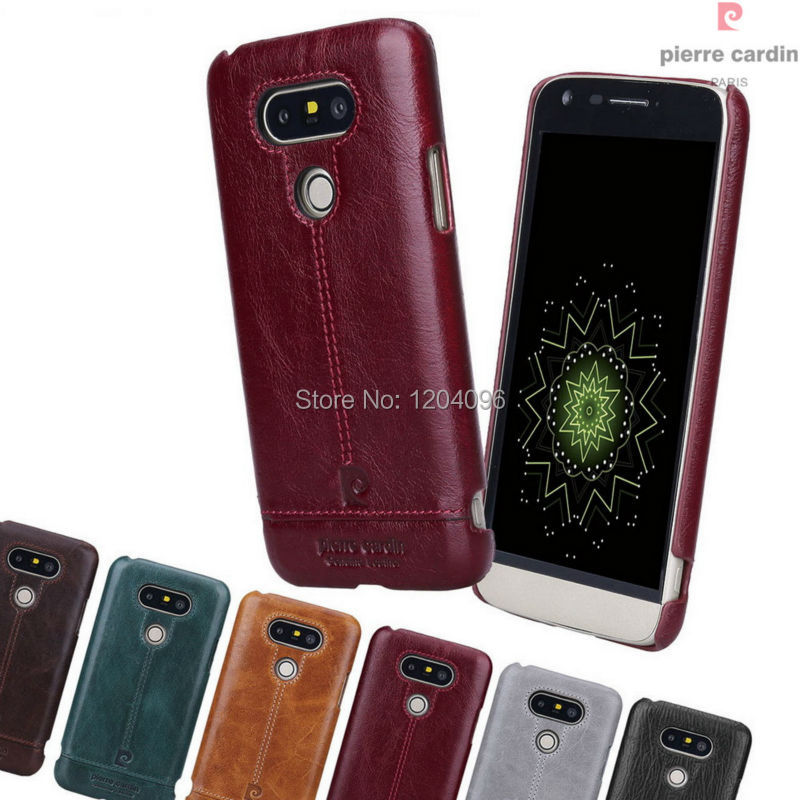 low priced 7e792 e769c Pierre Cardin Luxury Genuine Leather Hard Case Back Cover for LG G5 ...