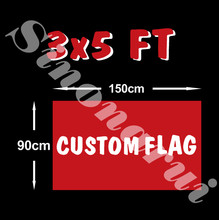 Custom Flag 90*150cm All Logo All Color Royal Flags Banners With Sleeve Gromets(China)