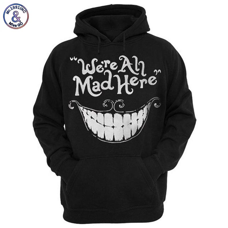 Mr 1991INC New Fashion Men women 3d Sweatshirt Funny Print Cheshire Cat Smile Face Hooded Hoodies