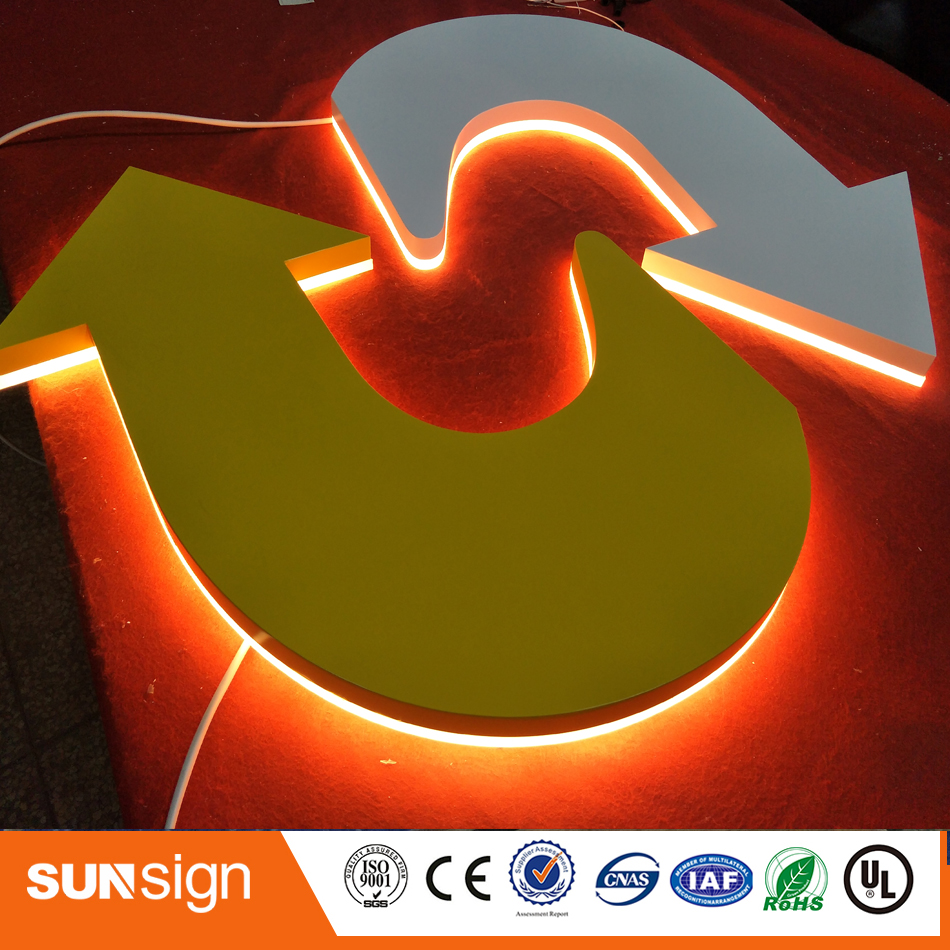 Outdoor SS Led Backlit Channel Letter Acrylic Sign