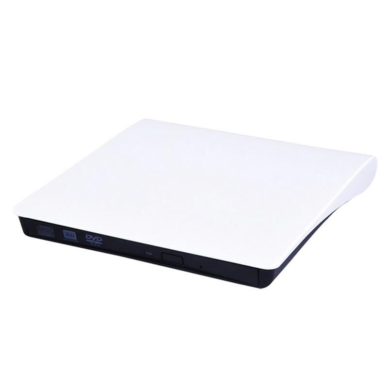 Prix pour FW1S Ultra Slim Externe USB 3.0 CD DVD DVDRW 8X DVD-R 48X CD-R Graveur de DVD Externe Pour Ordinateur Portable blanc