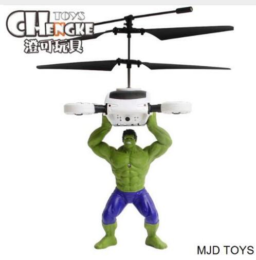 Original MJD Brand Toys Green Man Hulk Induction Fly Toys Remote Control RC Helicopter Flying Quadcopter Drone Kids Toys Gifts