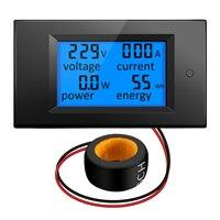 Качество 100A/80 ~ 260 В мощность энергии вольтамперметр, Вт ток Ампер Вольтметр монитор с ЖК-панелью цифровой AC напряжение метров