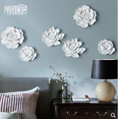 Dreidimensionale Wandsticker, Lotus- und Pfingstrosenblumen, - Wohnkultur - Foto 2