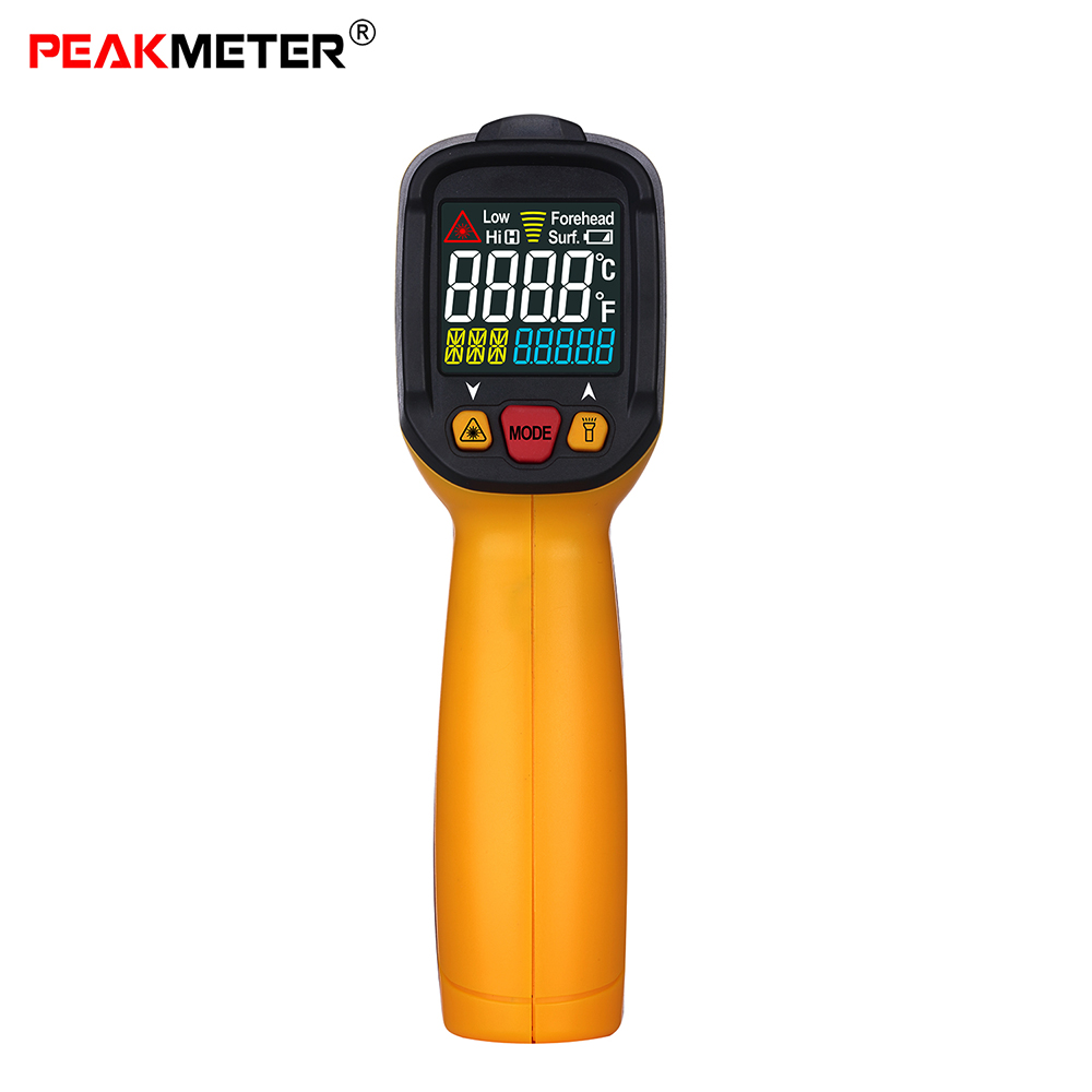 Digital Infrared IR Thermometer Fine Temperature Tester pyrometer thermometre infrarouge termometro digital Alarm Emissivity infrared ir thermometer digital pyrometer ifine temperature tester thermometre infrarouge termometro digital alarm emissivity