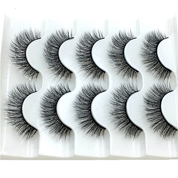 2021 NEW 2/5 pairs Mink Eyelashes 3D False lashes Thick Crisscross Makeup Eyelash Extension Natural Volume Soft Fake Eye Lashes 1