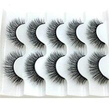 Mink-Eyelashes Makeup Natural-Volume 3D Thick Crisscross 2/5-Pairs Soft NEW