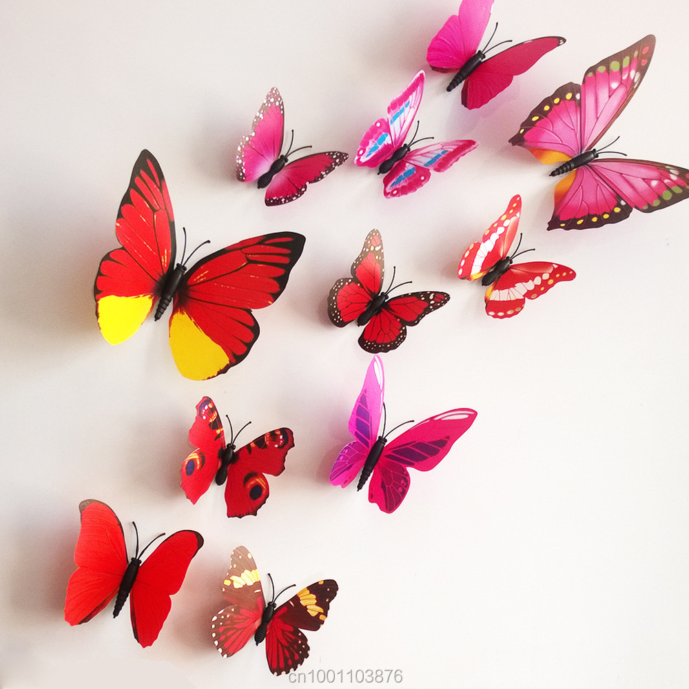 3d Stereo Art Butterfly Wall Stickers Diy Wall Decoration 3d Butterfly - Undefined eth002f