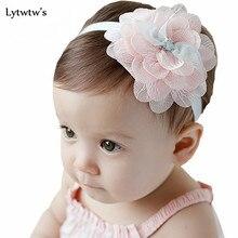 Повязка на голову для маленькой девочки Детские аксессуары для волос одежда band цветочные новорожденных ползунки Головные уборы эластичный повязка для волос, лента для волос в подарок для детей ясельного возраста с цветочным принтом
