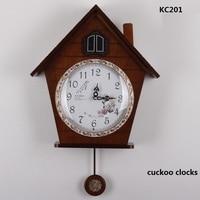 free shipping wood light controlled time cuckoo clocks machine core cuckoo clock wall clock KAIROS