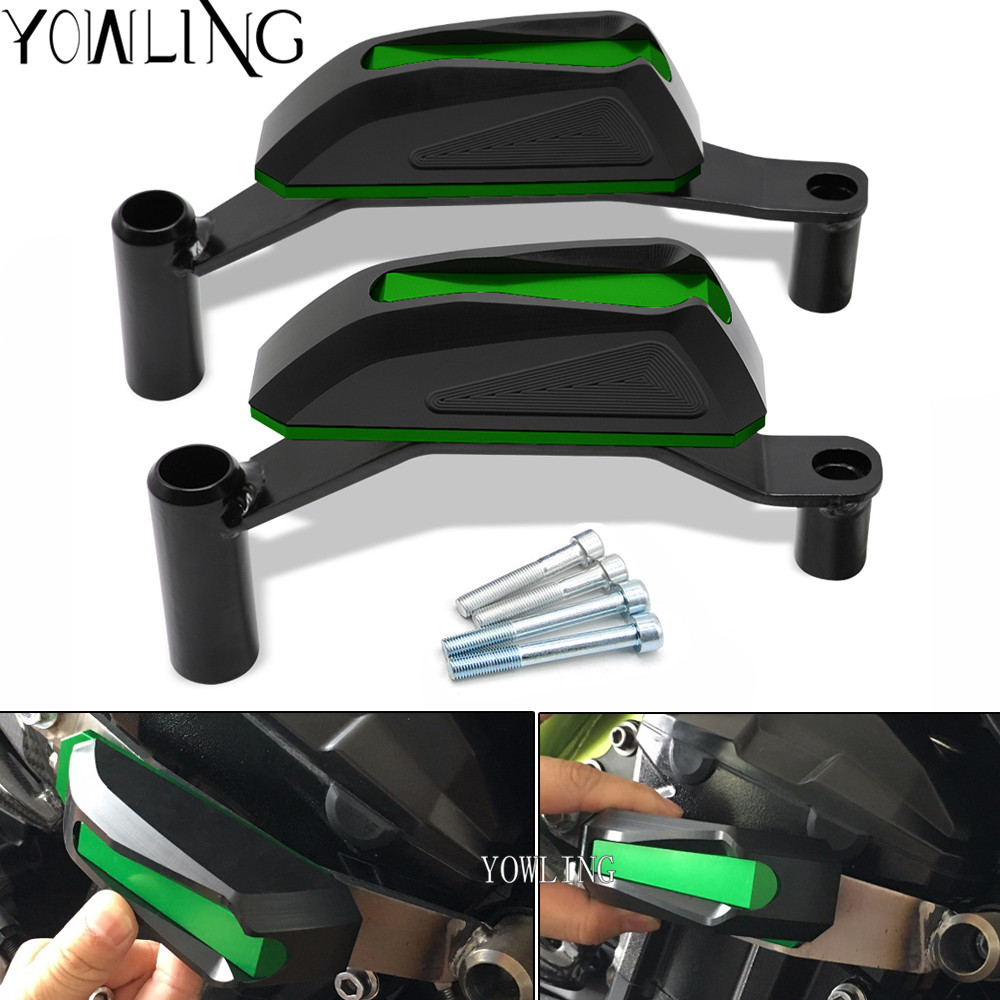Motorcycle Frame Crash Pads Engine Case Sliders Protector FOR Kawasaki Z900 2016 2017 2018 engine protection block falling block цены онлайн