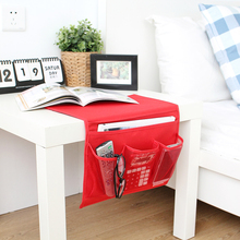 Novelty Disktopside Bedside Pocket Bed Organizer Hanging Bag For Phone Holder Book Magazine Zakka Storage Pouch