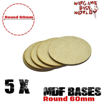 MDF Bases - 60mm Round bases- Basing Laser Cut Wargames wood - sale item Building & Construction Toys