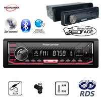 1 Din Abnehmbare RDS Auto Radio Millionen Farben Auto Stereo Audio Autoradio Siri Assistent Bluetooth APP Controller FM/AUX /USB/SD