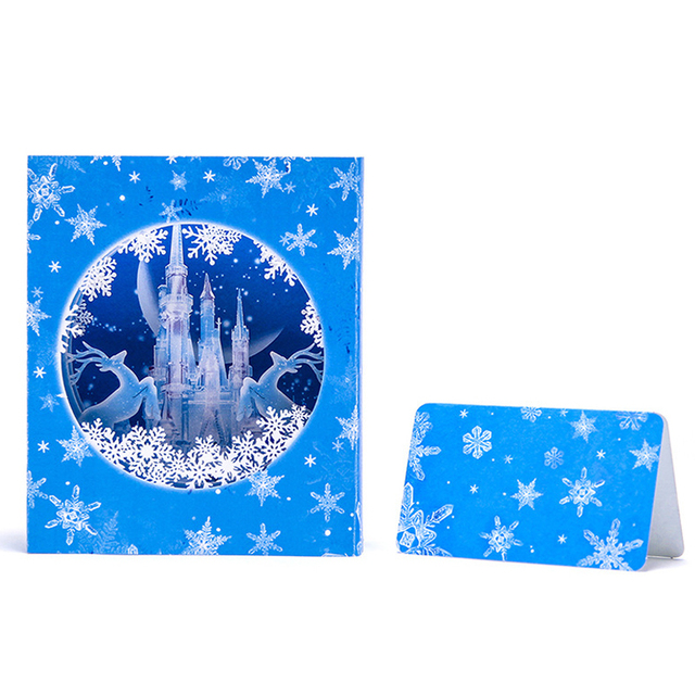 3d pop up snowflake reindeer with castle laser cut scenery paper 3d pop up snowflake reindeer with castle laser cut scenery paper christmas eve boxes greeting card m4hsunfo