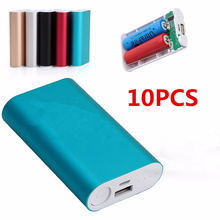 10Pcs Dual USB Power Bank 6x 18650 External Backup Battery Charger Box Case For Phone