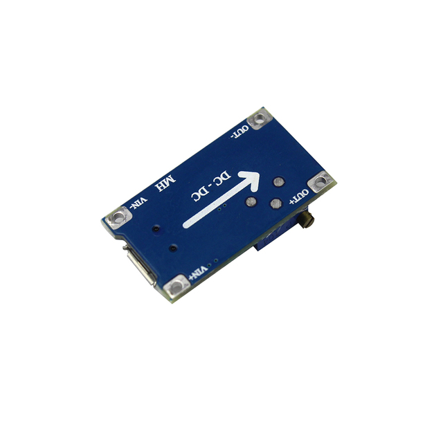 DC to DC Step-Up Boost Adjustable Power Supply Module with Micro USB 2V-24V to up to 28V 2A
