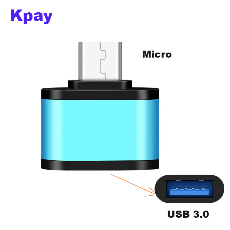USB Micro OTG Adapter Micro Male To USB 3.0 Female   OTG Adapter Data Sync Charge Adapter For Android   Phone Tablet