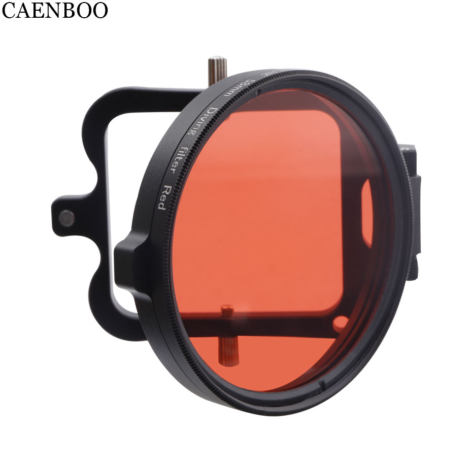 CAENBOO Action Camera Lens Filters Go Pro Hero 5 6 Color Red Diving Underwater Circular Filter For GoPro Hero5/6/2018 Black 58mm