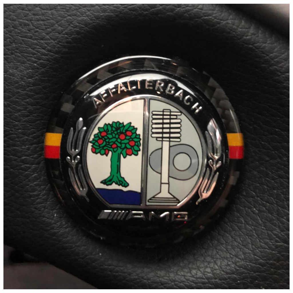Venda QUENTE Parada Início Carro Chave Anel De Fibra De Carbono Interior Decoração Círculo ForBenz Transporte da gota